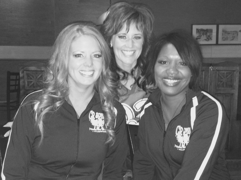 Katie, Tiffany and Deatra after the Spirits Photo Shoot!