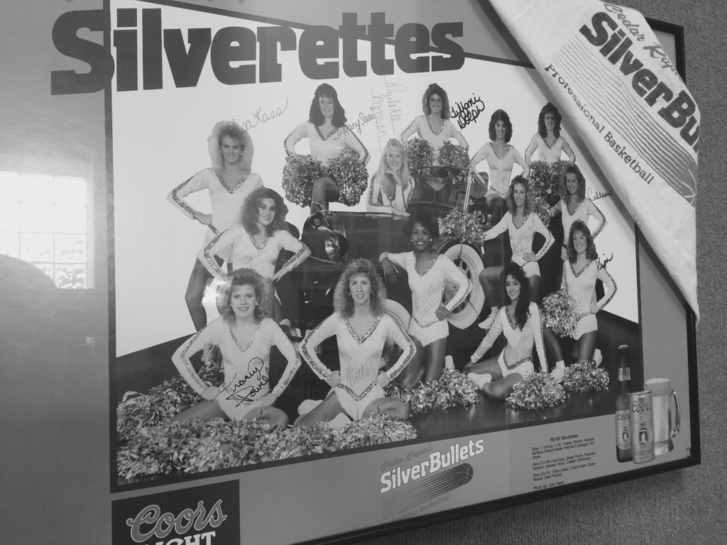 CBA Silver Bullet Basketball Cheerleaders!  The Silverettes!
